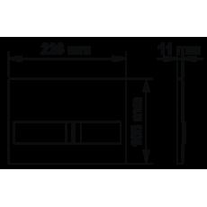 Инсталляция BERGES для скрытого монтажа NOVUM L2 с кнопкой матовый хром