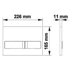 Инсталляция BERGES для скрытого монтажа NOVUM L4 с кнопкой Soft Touch белая