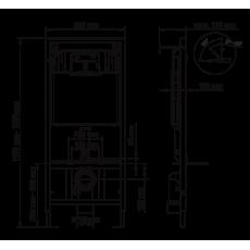 Инсталляция BERGES для скрытого монтажа унитаза NOVUM кнопка D7, белая/кнопка хром