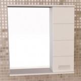 """Зеркало-шкаф """"Модена-60"""" белый глянец"""