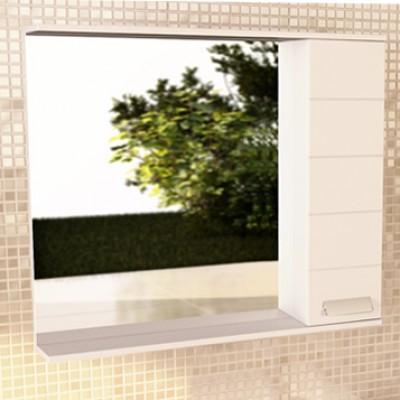 """Зеркало-шкаф """"Модена-90"""" белый глянец"""