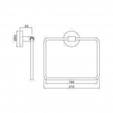 Вешалка для полотенец Jaquar ACN-CHR-1121N