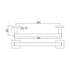 Вешалка для полотенец Jaquar AKP-CHR-35701P