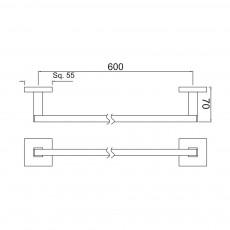 Вешалка для полотенец Jaquar AKP-CHR-35711P