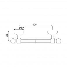 Вешалка для полотенец Jaquar AQN-CHR-7711