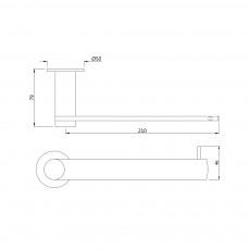 Вешалка для полотенец Artize ONY-CHR-59723