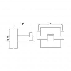 Двойной крючок Jaquar AKP-CHR-35761P