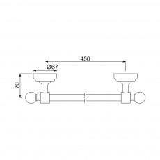 Вешалка для полотенец Jaquar AQN-CHR-7711A