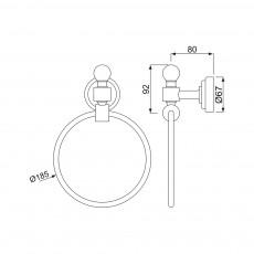 Вешалка для полотенец Jaquar AQN-CHR-7721