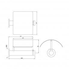 Держатель для туалетной бумаги Artize ONY-CHR-59757