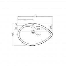 Накладная раковина Artize TIS-WHT-73931