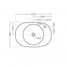 Накладная раковина Artize TWS-WHT-75931