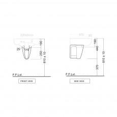 Полупьедестал для раковины Jaquar ARS-WHT-39305