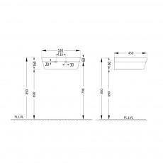 Подвесная раковина Artize LXS-WHT-67801