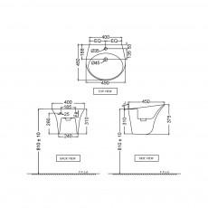 Подвесная раковина Jaquar ONS-WHT-10801