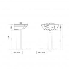 Подвесная раковина Jaquar QNS-WHT-7801