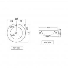 Встраиваемая раковина Jaquar FSS-WHT-29601