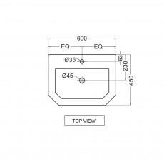 Встраиваемая раковина Jaquar QNS-WHT-7601