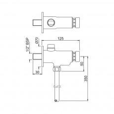 Нажимной вентиль для писсуара Jaquar Pressmatic PRS-CHR-077