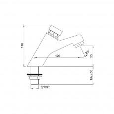 Нажимной кран Jaquar Pressmatic PRS-CHR-031