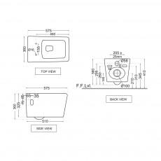 Подвесной унитаз Jaquar ARS-WHT-39951