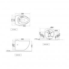 Подвесной унитаз Jaquar FSS-WHT-29951