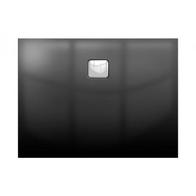Акриловый душевой поддон Riho Basel 414 100x90 черный глянец, накладка хром DC241600000000S