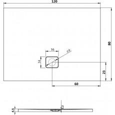 Акриловый душевой поддон Riho Basel 406 120x80 черный глянец, накладка хром DC161600000000S