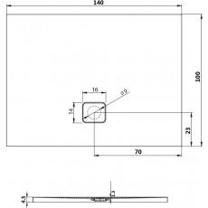 Акриловый душевой поддон Riho Basel 434 140x100 белый + сифон DC380050000000S