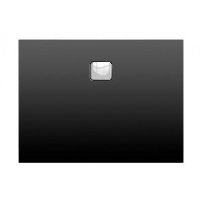 Акриловый душевой поддон Riho Basel 406 120x80 черный матовый, накладка хром DC161700000000S