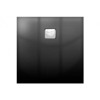 Акриловый душевой поддон Riho Basel 430 100x100 черный глянец, накладка хром DC341600000000S