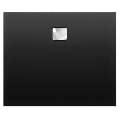 Акриловый душевой поддон Riho Basel 430 100x100 черный матовый, накладка хром DC341700000000S