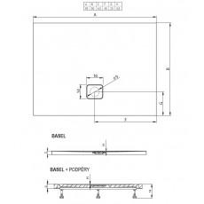 Акриловый душевой поддон Riho Basel 402 90x80 белый + сифон DC120050000000S