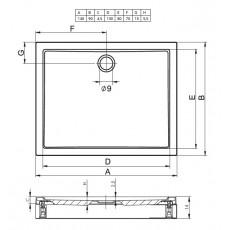 Акриловый душевой поддон Riho Davos 257 140x90 белый + панель DA6500500000000