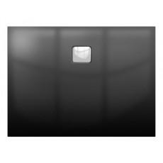 Акриловый душевой поддон Riho Basel 404 120x80 черный глянец, накладка хром DC141600000000S