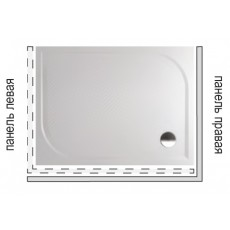 Панель для душевого поддона Riho Kolping P33 R 120x80x10 333R P33005000000000