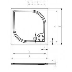 Душевой поддон из литьевого мрамора Riho Kolping DB33 120x80 белый + сифон DB3300500000000