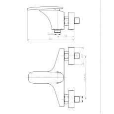 WW MX ESSEN 604 Хром. Смеситель для ванны однорычажный.