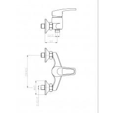 WW MX ISAR 504 Хром. Смеситель для ванны однорычажный.