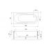 Акриловая ванна AZUR RB614202 160x80x60 L