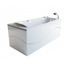 Ванна из литьевого мрамора Фэма Алассио 150 см (хром)