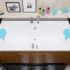 Ванна из литьевого мрамора Фэма Бомонд (хром)
