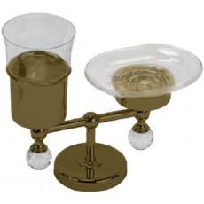 Держатель стакана и мыльницы настольный Migliore Amerida ML.AMR-60.410DO золото