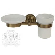 Держатель мыльницы и стакана Migliore Mirella ML.MRL-M066CRDO - хром/золото