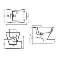 Биде ArtCeram Jazz JZB001 01;50  bia/nero подвесное