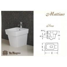 Биде BelBagno Mattino BB1060B, 335x360x500 мм