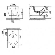 Биде Creavit Free FE510(FE510.00000), подвесное
