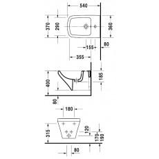 Биде Duravit Durastyle подвесное, 370*540 мм