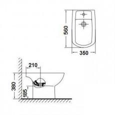 Биде Gala Smart 25360 (72586) напольное 56*35 см, с крепежом