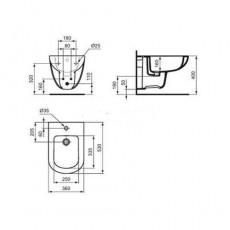 Биде Ideal Standard Tempo T510001